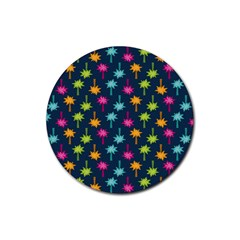 Funny Palm Tree Pattern Rubber Coaster (round)  by tarastyle