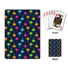 Funny Palm Tree Pattern Playing Card by tarastyle
