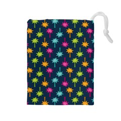Funny Palm Tree Pattern Drawstring Pouches (large)  by tarastyle