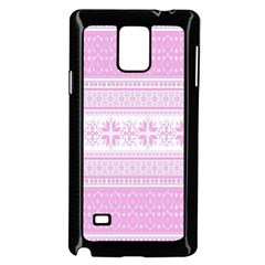 Pattern Samsung Galaxy Note 4 Case (black) by Valentinaart