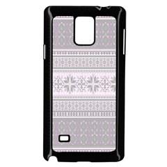 Pattern Samsung Galaxy Note 4 Case (black) by Valentinaart