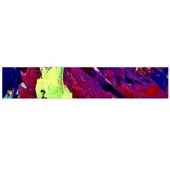 Abstract Painting ,blue,yellow,red,green Flano Scarf (large)