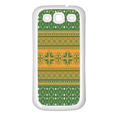 Pattern Samsung Galaxy S3 Back Case (white) by Valentinaart