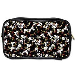 Dark Chinoiserie Floral Collage Pattern Toiletries Bags 2 Side by dflcprints