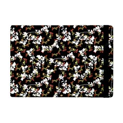 Dark Chinoiserie Floral Collage Pattern Apple Ipad Mini Flip Case by dflcprints