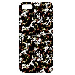 Dark Chinoiserie Floral Collage Pattern Apple Iphone 5 Hardshell Case With Stand by dflcprints