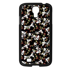 Dark Chinoiserie Floral Collage Pattern Samsung Galaxy S4 I9500/ I9505 Case (black) by dflcprints