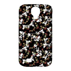 Dark Chinoiserie Floral Collage Pattern Samsung Galaxy S4 Classic Hardshell Case (pc+silicone) by dflcprints