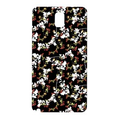 Dark Chinoiserie Floral Collage Pattern Samsung Galaxy Note 3 N9005 Hardshell Back Case by dflcprints