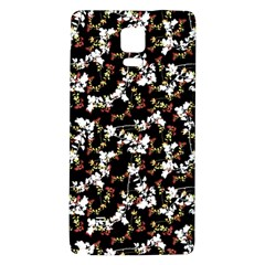 Dark Chinoiserie Floral Collage Pattern Galaxy Note 4 Back Case by dflcprints