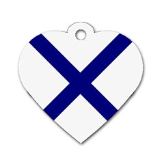 Saint Andrew s Cross Dog Tag Heart (two Sides) by abbeyz71