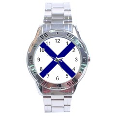 Saint Andrew s Cross Stainless Steel Analogue Watch by abbeyz71