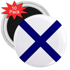 Saint Andrew s Cross 3  Magnets (10 Pack)  by abbeyz71