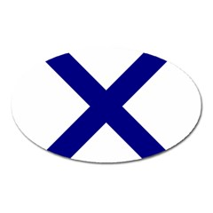 Saint Andrew s Cross Oval Magnet by abbeyz71