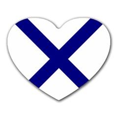 Saint Andrew s Cross Heart Mousepads by abbeyz71
