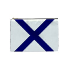 Saint Andrew s Cross Cosmetic Bag (medium)  by abbeyz71