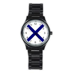Saint Andrew s Cross Stainless Steel Round Watch by abbeyz71