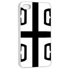 Serbian Cross Apple Iphone 4/4s Seamless Case (white) by abbeyz71