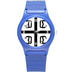Serbian Cross Round Plastic Sport Watch (s) by abbeyz71