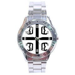 Serbian Cross Stainless Steel Analogue Watch by abbeyz71