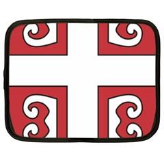 Serbian Cross Shield Netbook Case (xxl)  by abbeyz71
