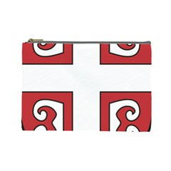 Serbian Cross Shield Cosmetic Bag (large)  by abbeyz71