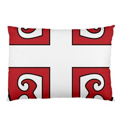 Serbian Cross Shield Pillow Case (two Sides) by abbeyz71
