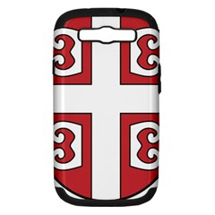 Serbian Cross Shield Samsung Galaxy S Iii Hardshell Case (pc+silicone) by abbeyz71