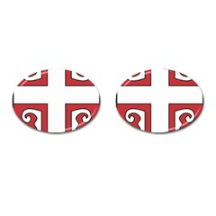 Serbian Cross Shield Cufflinks (oval) by abbeyz71