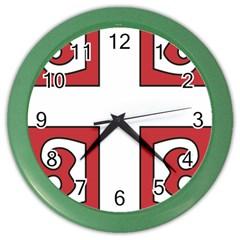 Serbian Cross Shield Color Wall Clocks by abbeyz71