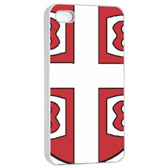 Serbian Cross Shield Apple Iphone 4/4s Seamless Case (white) by abbeyz71