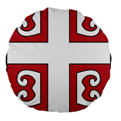 Serbian Cross Shield Large 18  Premium Flano Round Cushions by abbeyz71