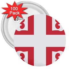 Serbian Cross  3  Buttons (100 Pack)  by abbeyz71