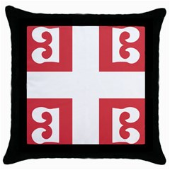 Byzantine Imperial Flag, 14th Century  Throw Pillow Case (black) by abbeyz71