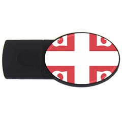 Byzantine Imperial Flag, 14th Century  Usb Flash Drive Oval (4 Gb) by abbeyz71