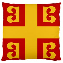 Byzantine Imperial Flag, 14th Century Standard Flano Cushion Case (one Side) by abbeyz71