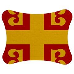 Byzantine Imperial Flag, 14th Century Jigsaw Puzzle Photo Stand (bow) by abbeyz71