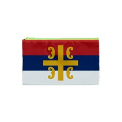 Flag Of The Serbian Orthodox Church Cosmetic Bag (xs) by abbeyz71
