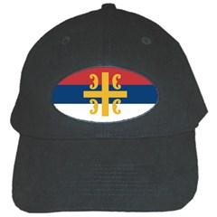 Flag Of The Serbian Orthodox Church Black Cap by abbeyz71