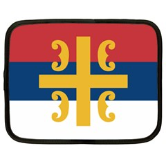 Flag Of The Serbian Orthodox Church Netbook Case (xl)  by abbeyz71