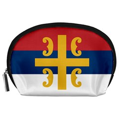 Flag Of The Serbian Orthodox Church Accessory Pouches (large)  by abbeyz71