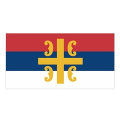 Flag Of The Serbian Orthodox Church Satin Shawl by abbeyz71
