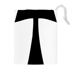 Tau Cross  Drawstring Pouches (extra Large) by abbeyz71