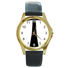Tau Cross  Round Gold Metal Watch by abbeyz71