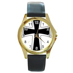 Cross Of The Teutonic Order Round Gold Metal Watch by abbeyz71
