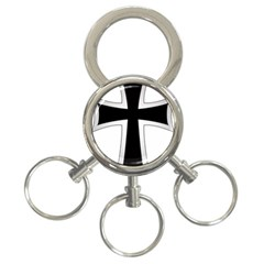 Cross Of The Teutonic Order 3 Ring Key Chains by abbeyz71