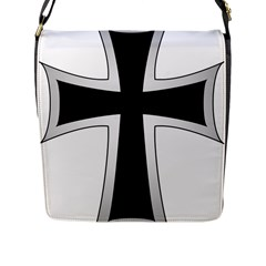Cross of the Teutonic Order Flap Messenger Bag (L)