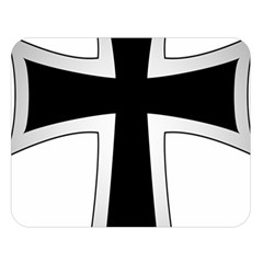 Cross Of The Teutonic Order Double Sided Flano Blanket (large)  by abbeyz71
