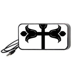 Caucasian Albanian Cross Portable Speaker (black) by abbeyz71