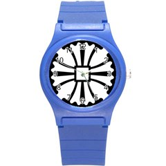 Canterbury Cross  Round Plastic Sport Watch (s) by abbeyz71